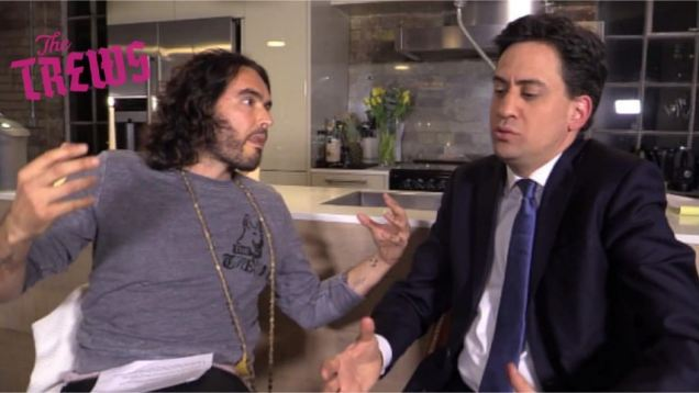 Ed Miliband savaged for Russell Brand video stunt