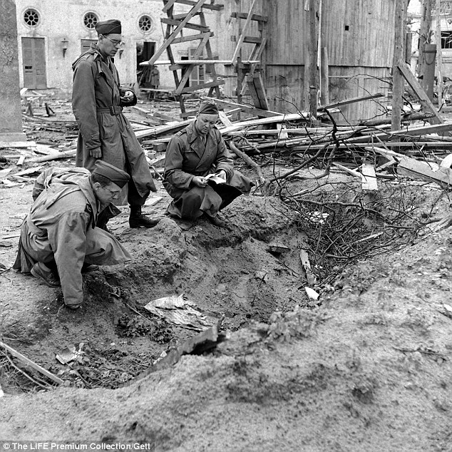 Cremated: This pit is allegedly the place where Hitler's body was burnt and then discovered after his suicide. From here, the Russians claim they took the bodies to be identified, and then buried
