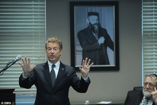 A comment about a train ride to Washington, D.C. on the night of the unrest in Baltimore has put another presidential candidate, Rand Paul, in the hot seat. Paul is pictured here speaking at an event in New York City on Monday. He said in an interview on Tuesday that he was 'glad' his train didn't stop in Baltimore the night before. But as several news outlets have since pointed out, every single Amtrak train headed in the direction of Washington made its regular Baltimore stop on Monday