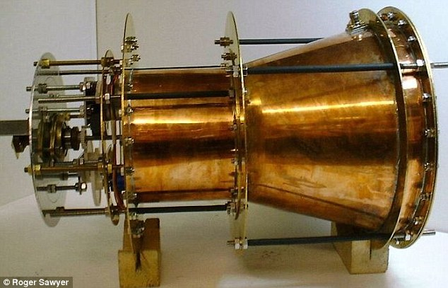 A prototype of the 'impossible' fuel-free engine that some say power a spacecraft to Mars in just 10 weeks. The design is now set to undergo peer-review. Many maintain the system goes against the laws of physics