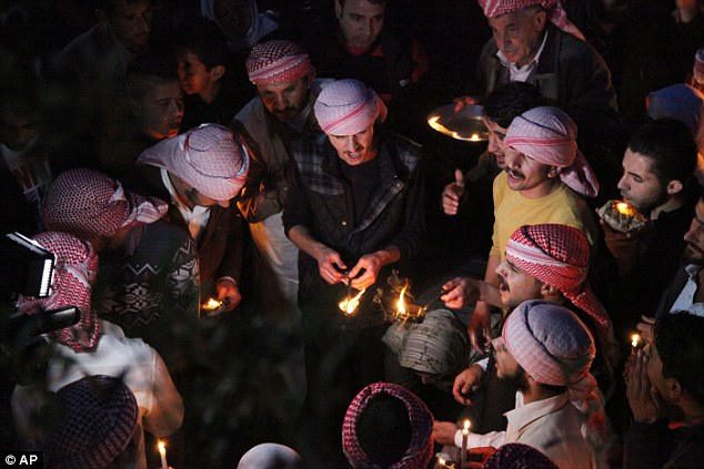 Captives: Hundreds of Yazidis were killed and thousands captured, enslaved and raped by the  militants
