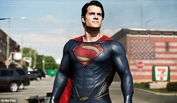 A suit that would give people Superman-like powers, such as being bulletproof, could build on work done by an MIT professor who is developing 'liquid armour'. A still of Henry Cavill as the Man of Steel is shown