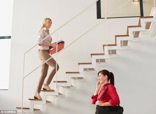 Dr Sally Norton, a weight loss expert, urges people to take the stairs, stand up and walk about while you're on the phone and make a few extra trips to the water fountain, to help boost fitness and up exercise levels