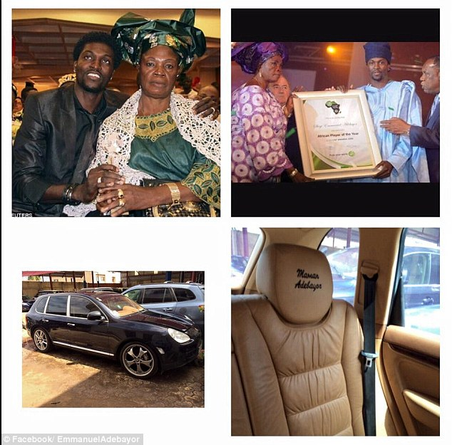Emmanuel Adebayor uploaded this picture on to his Facebook as well as a lengthy 877-word statement