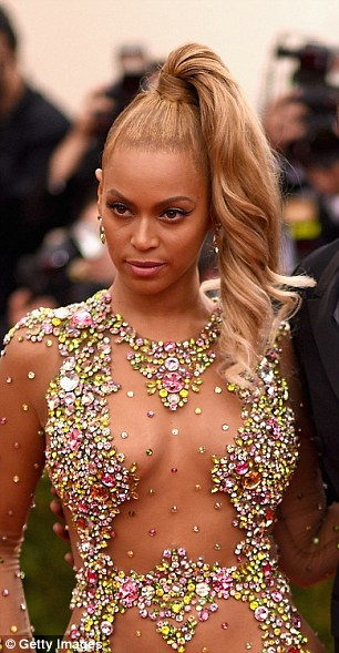 Beyonce Rocks Her High Ponytail A Day After The Met Gala