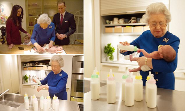 Behind the scenes as the Queen meets Princess Charlotte but is all as it seems?