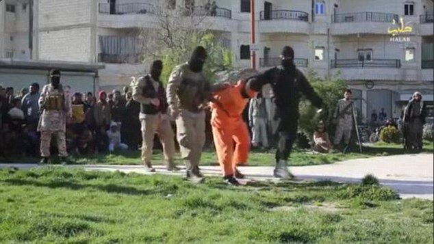 Images of the executions were shared on Twitter by anti-ISIS activists Raqqa Is Being Slaughtered Silently who risk their lives leaking atrocities from within Iraq and Syria