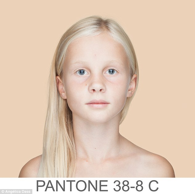 Each photo is given an alphanumeric code through the Pantone guidelines, which creates a horizontal range in color