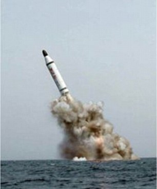 Success: North Korean officials claim this missile proves they can launch rockets from submarines - which, if true, is a worrying development, security experts have said