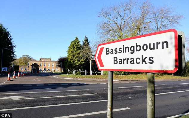 The pair had been undergoing training at Bassingbourn Barracks (above) as part of an agreement by the UK government to help war-torn Libya after the 2011 collapse of Colonel Muammar Gaddafi's regime