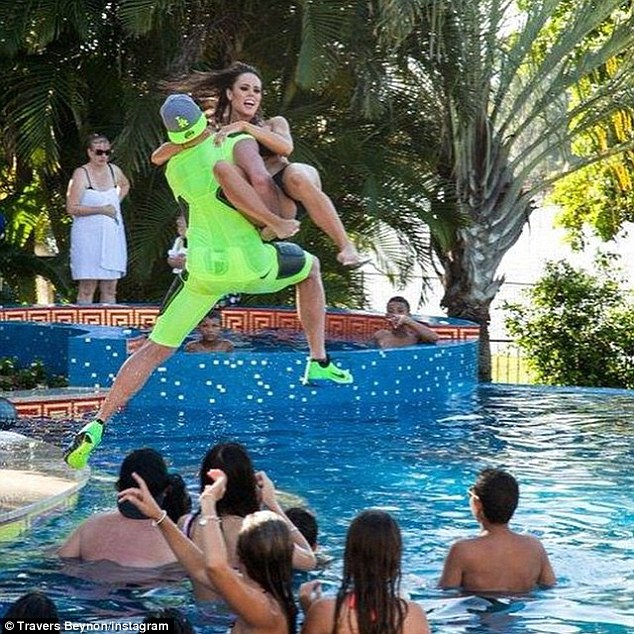 Other online testimonials say Mr Beynon arrives at his extravagant parties by helicopter, and guest spend most of their time in a swimming pool