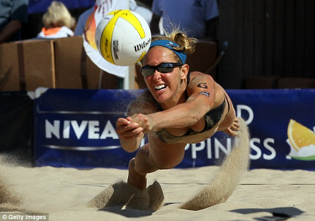 Star athlete: Gregory received media coverage for her performance at the AVP Hermosa Beach Open in July 2010