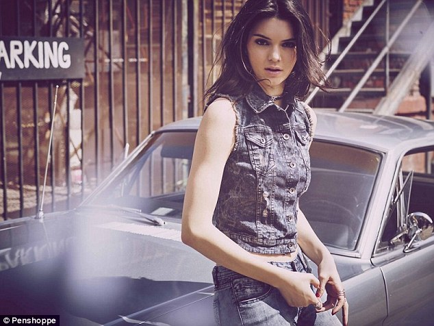 Jean queen: Kendall is already the face of Calvin Klein's denim campaign, and has now signed up with Penshoppe