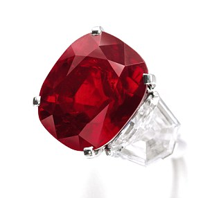 Extremely rare: The 'Sunrise Ruby' sold for £19.3million at auction