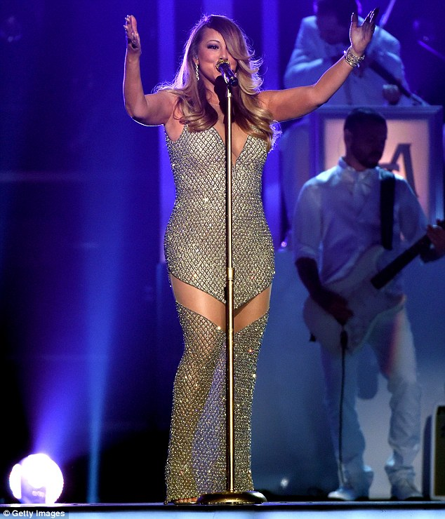 #Beautiful: Mariah Carey performed at the Billboard Music Awards for the first time in 17 years on Sunday in Las Vegas