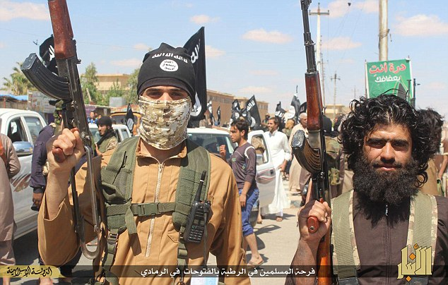 Villains: If ISIS (pictured) take Baghdad, 'there would be massacres to the scale we haven't seen since the Mongol empire in the 13th Century.' an expert claimed