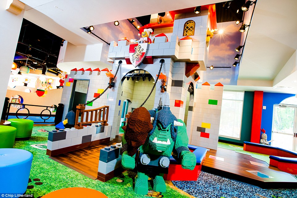 There are also plenty of brightly-hued interactive play areas for the kids to take advantage of - when they're not at the park, that is