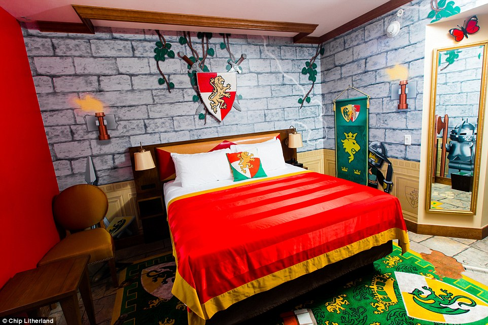 With 152 over-the-top decorated rooms, families will have the option of choosing between one of four Lego themes