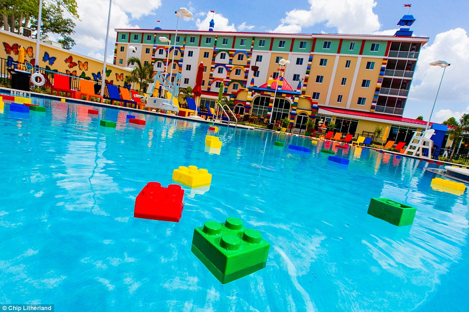 LEGOLAND Florida Resort is the largest in the world and also includes a Water Park - just in case kids grow bored of this heated pool