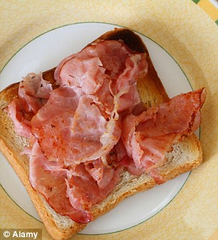 Don't just grill your bacon and dump it on a slice of bread