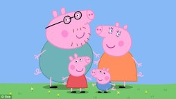 Peppa Pig (pictured with Daddy Pig, Mummy Pig and little brother George) has smashed the billion dollar sales barrier with her, already impressive, empire set to double within the next five years