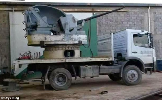 Armed: Half of this turret was supposedly cut away to allow Libya Dawn forces to aim and access munitions more easily