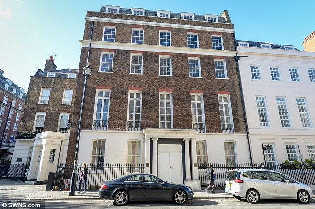 Eight Grosvenor Square, in Mayfair, is set to become a huge 18,000sqft 'trophy home', costing £70million