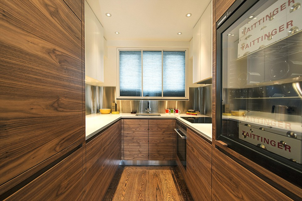 Stylish: They were bought by a developer two years ago who has revamped them with a similar modern look and both are now up for sale