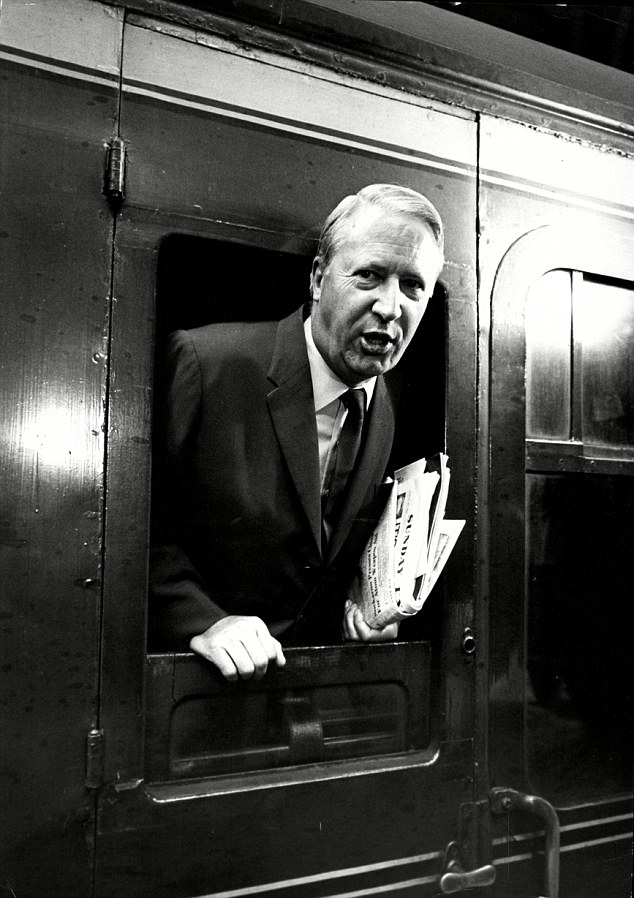 Heath, pictured leaving King's Cross for Leeds in 1967, was the star of his grammar school and went to Oxford, where he became President of both the Union and the Conservative Association