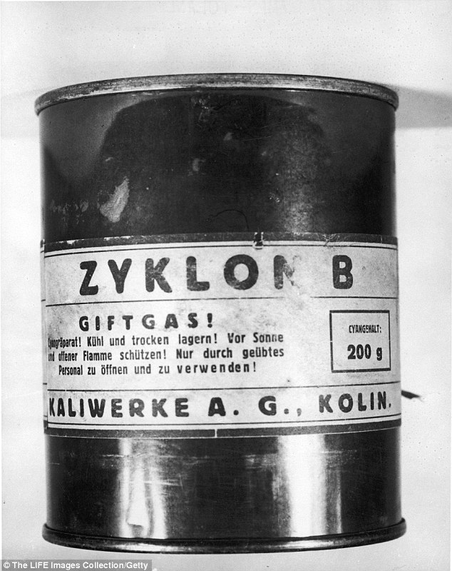 Image result for the holocaust, Zyklon B.