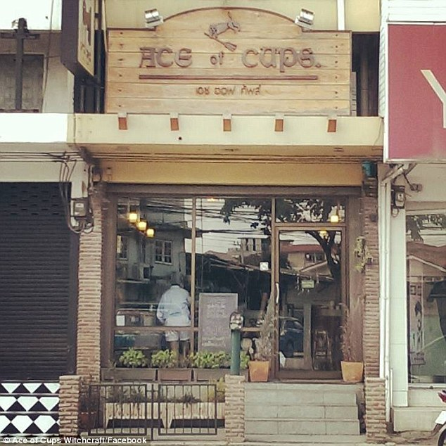 Owner Wine Kongsorn said he opened the café in a bid to unite the community of Wiccans in Bangkok