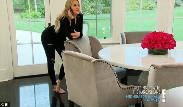 Falling back into old habits: Khloe sported a giddy smile in the KUWTK teaser, as she was seen flirting with ex Lamar