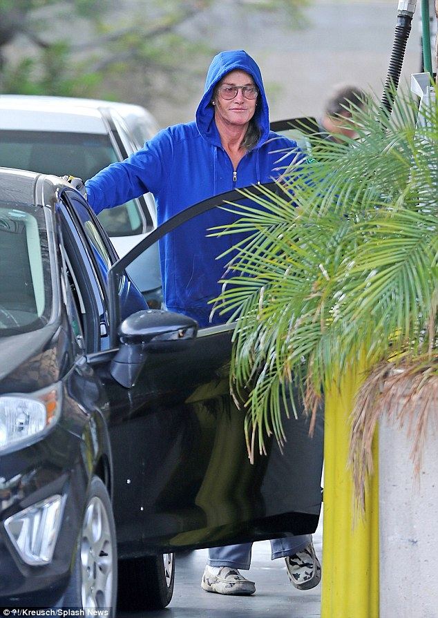 The morning after: Bruce is seen here the day after his ABC interview aired at a gas station in Malibu, looking relieved and like a weight had been lifted off her shoulders