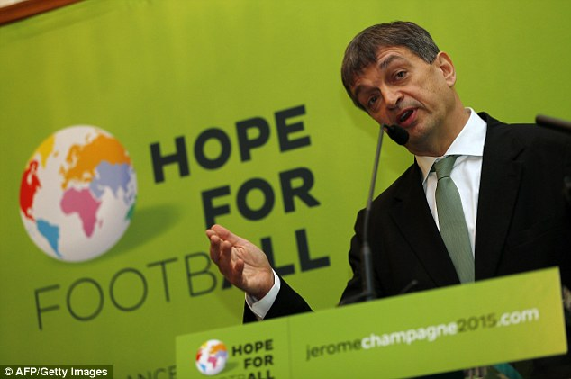 Jerome Champagne had intended to stand against Blatter but could not gain enough support