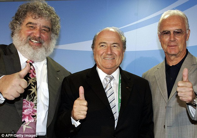 Chuck Blazer (left, with Blatter) has admitted he accepted bribes for World Cup votes while a FIFA executive