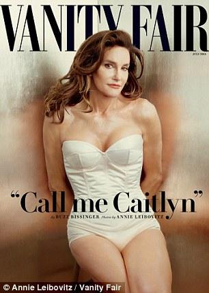 Auto-definición de género: Caitlyn solía ser un atleta masculino llamado Bruce Jenner, y aparece en la portada de la revista Vanity Fair en un corsé strapless