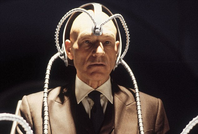 Mind control is a staple of sci-fi films such as X-Men, but now it's also a reality in animals. An image of Professor X played by Patrick Stewart from the film X-Men is shown
