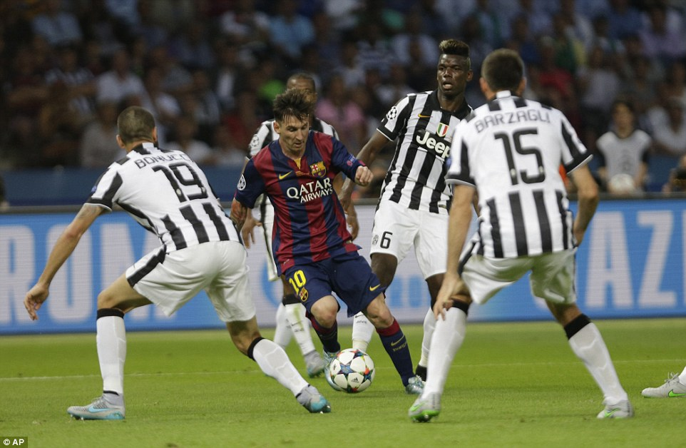 Lionel Messi attracts plenty of attention as the Argentine maestro torments his Italian opponents with his trickery and close control