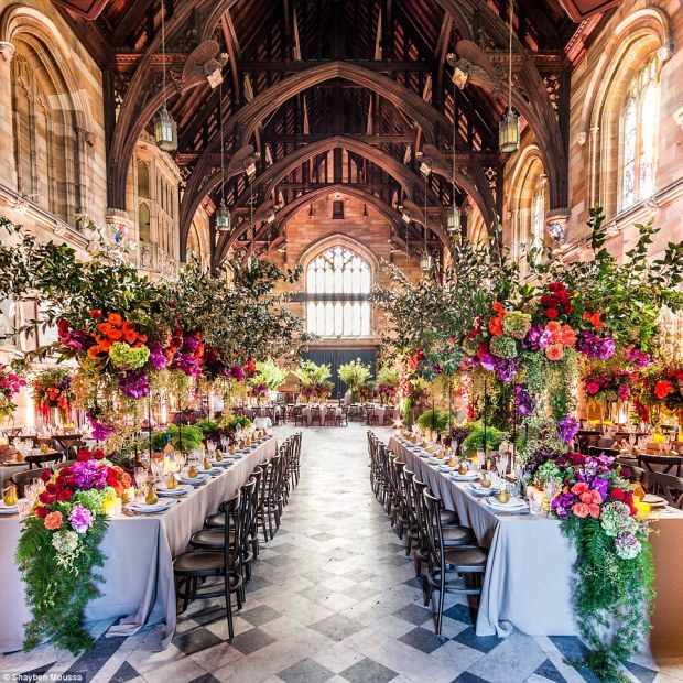 Sandy and Rod were wed at the University of Sydney in a stunning setting created byJason James Design