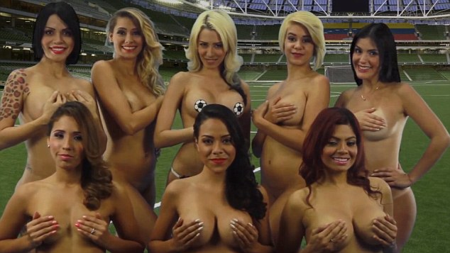 Eight female presenters form Venezuelan internet channel Desnudando la Noticia - which translates as 'stripping the news' - have decided to bare in in support for their football team at the Copa America
