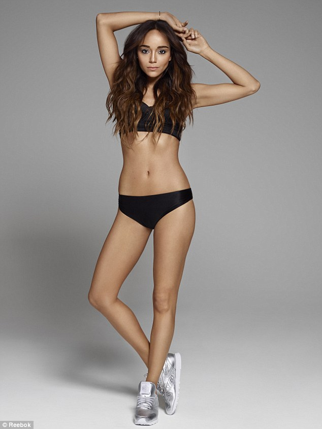 Stunning: Ashley showed off her incredible figure in a selection of workout wear as she posed for the new campaign