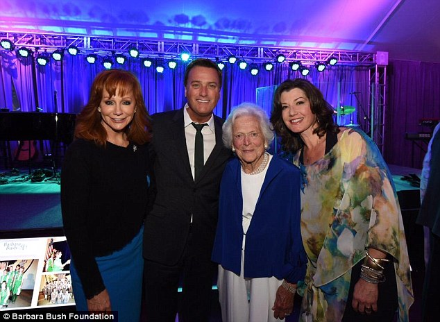 Big names: Among the stars who came out for Barbara's birthday were Reba McEntire and Amy Grant (above)