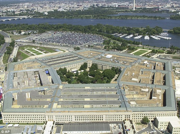 Now the Pentagon (pictured) is proposing stationing tanks and heavy weapons in NATO states on Russia's western border, according to reports in Washington