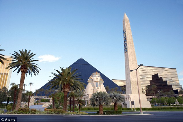 You might be forgiven for thinking you were in Egypt on approaching the Luxor Hotel in Las Vegas