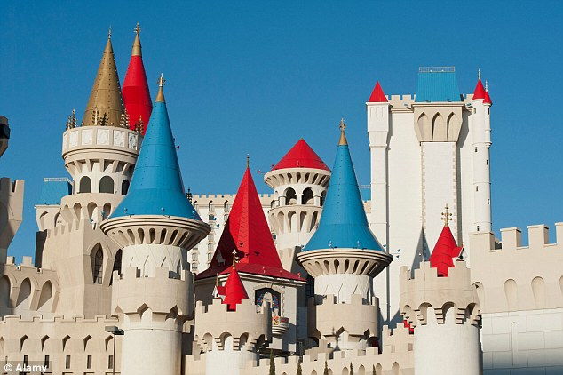 You might be forgiven for thinking you've gone back in time with a stay at the medieval-looking Excalibur Hotel and Casino on the Las Vegas Strip - ninth largest hotel