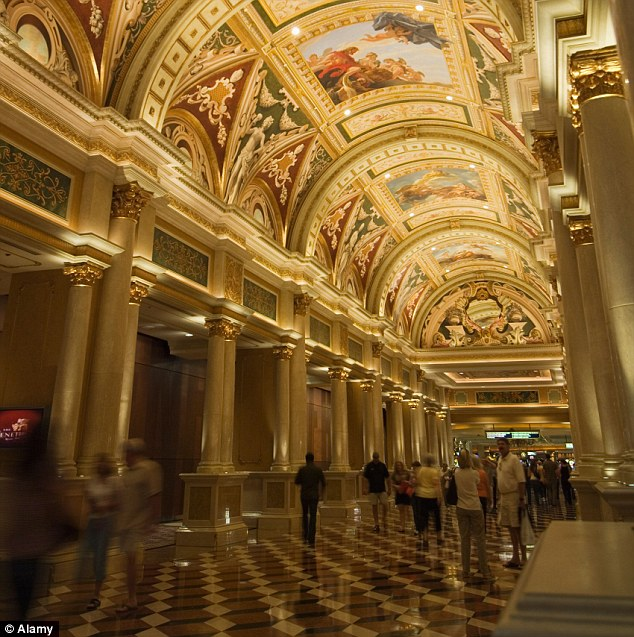 The architecture inside the Venetian is rooted in Italy. The hotel features in eighth position on the list