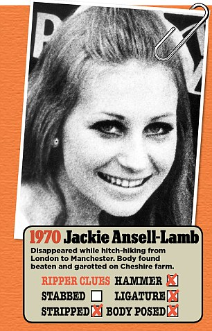 Jackie Ansell-Lamb disappeared while hitch-hiking from London to Manchester