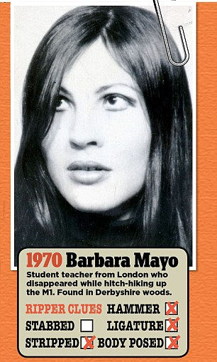 Barbara Mayo, a student teacher, was killed in 1970