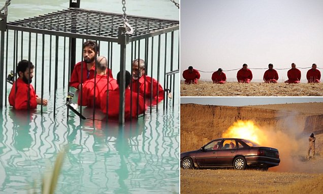 ISIS video shows caged prisoners drowned, shot with an RPG and blown up