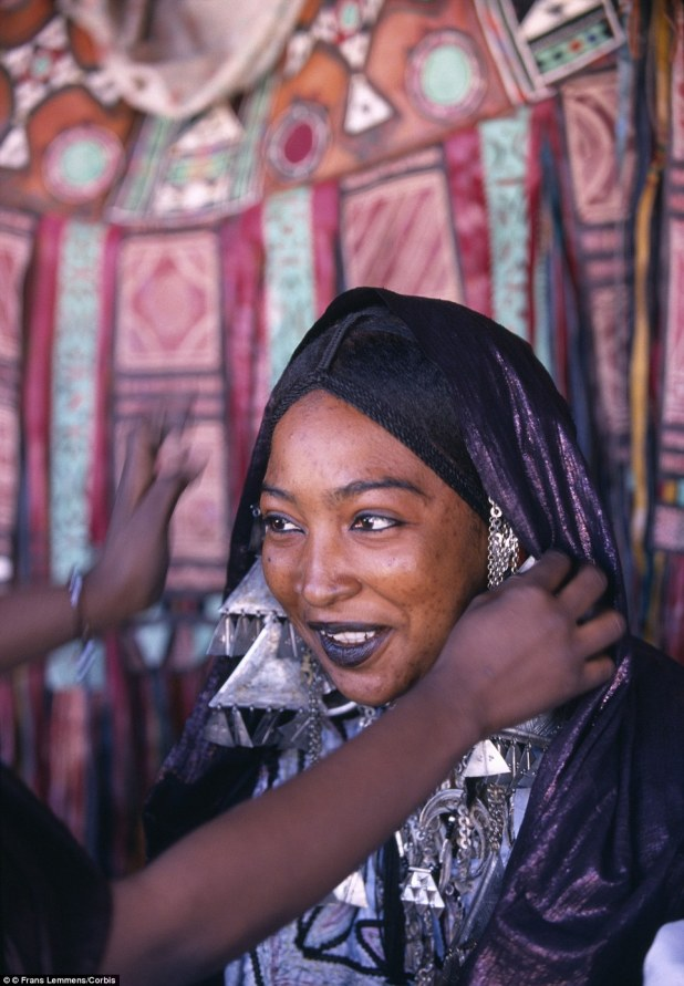 Freedoms: Before young Tuareg women marry, they are allowed to take as many different lovers as they want - as long as they abide by the strict rules of privacy which govern their society